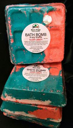 (W) Large Krazy Waffle bath bomb x9