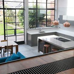 park road view of kitchen living spce design by Lost and Found Architects