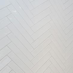 white parquet tiling