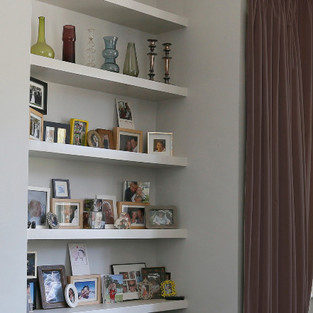 simple boxed shelving