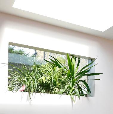sunker window plant planter