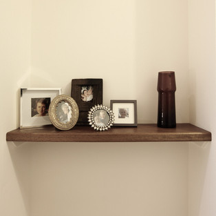 vintage teak shelf