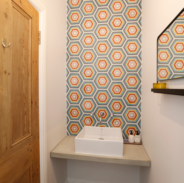 Colourful tiled wall