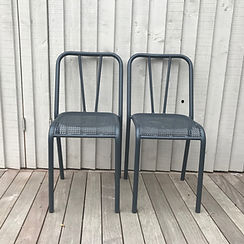 garden metal chairs sourced by lost and found, interior designers, Kingston upon thames, Surrey, England, United Kingdom
