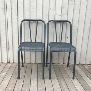 painted metal garden chairs
