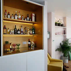 bespoke bar by Lost and Found Interiors