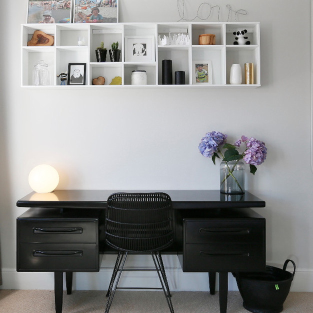 Matt black bespoke vintage desk