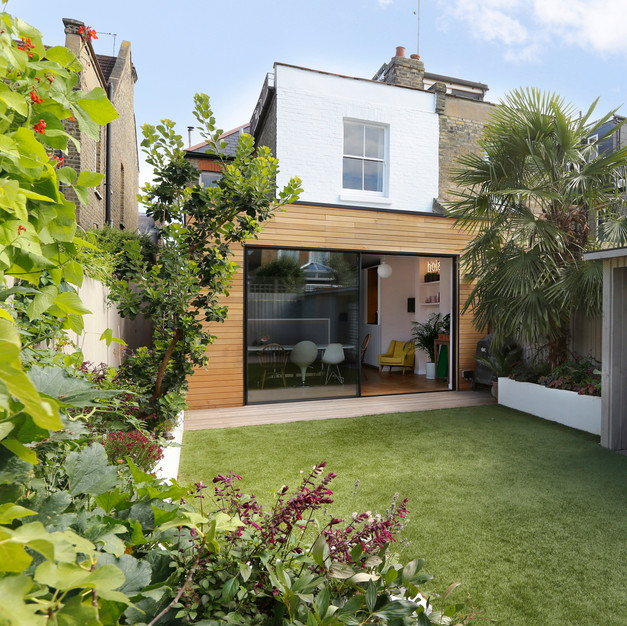 timber clad single storey extention london