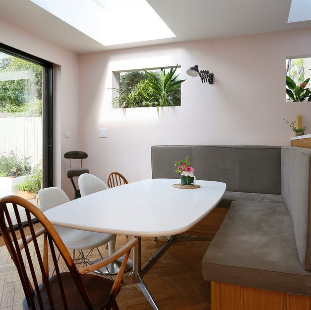 kitchen dinner with banquette style seating