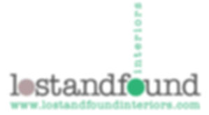 lost and found interiors logo with websi