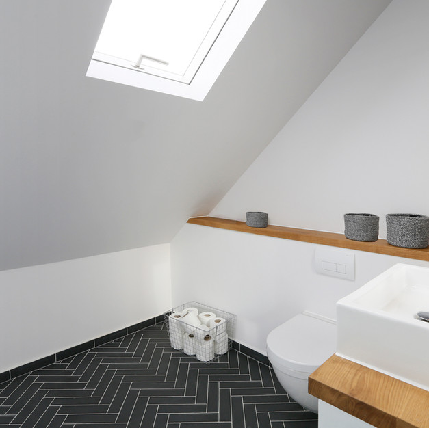 large loft shower room