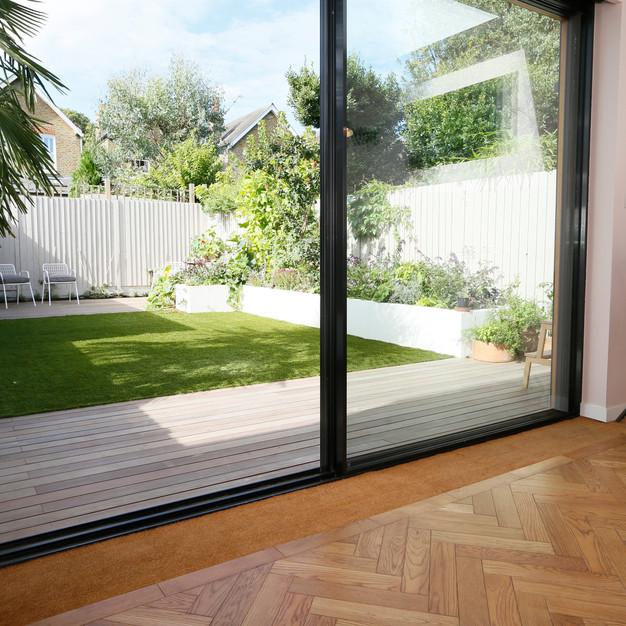 thin framed sliding doors