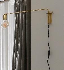 brass angled wall light
