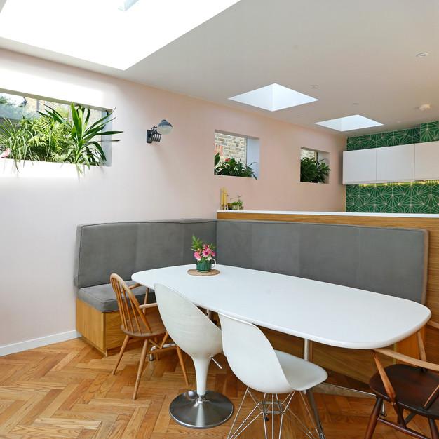 large open plan kitchen dinning