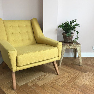 upholstered chair in Bute pure wool fabric