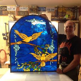 Custom stained glass window panel