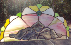 Victorian Arch stained glass panel