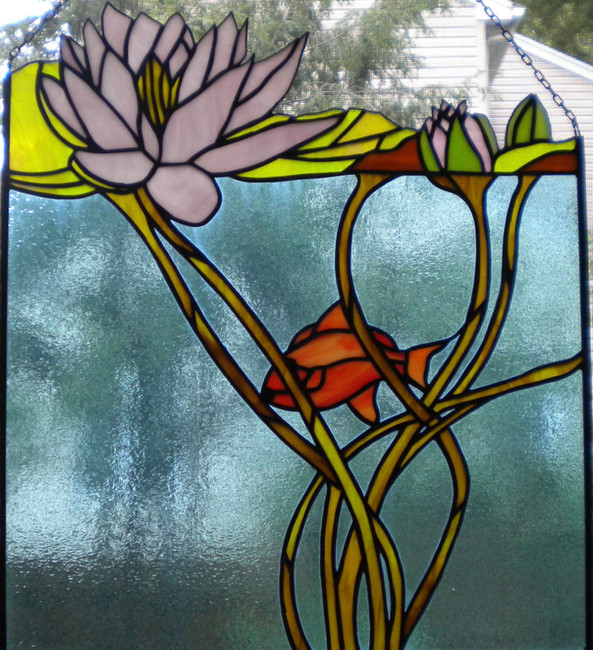 Stained glass Lilly Pond