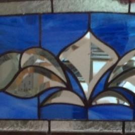 Custom stained glass door transom