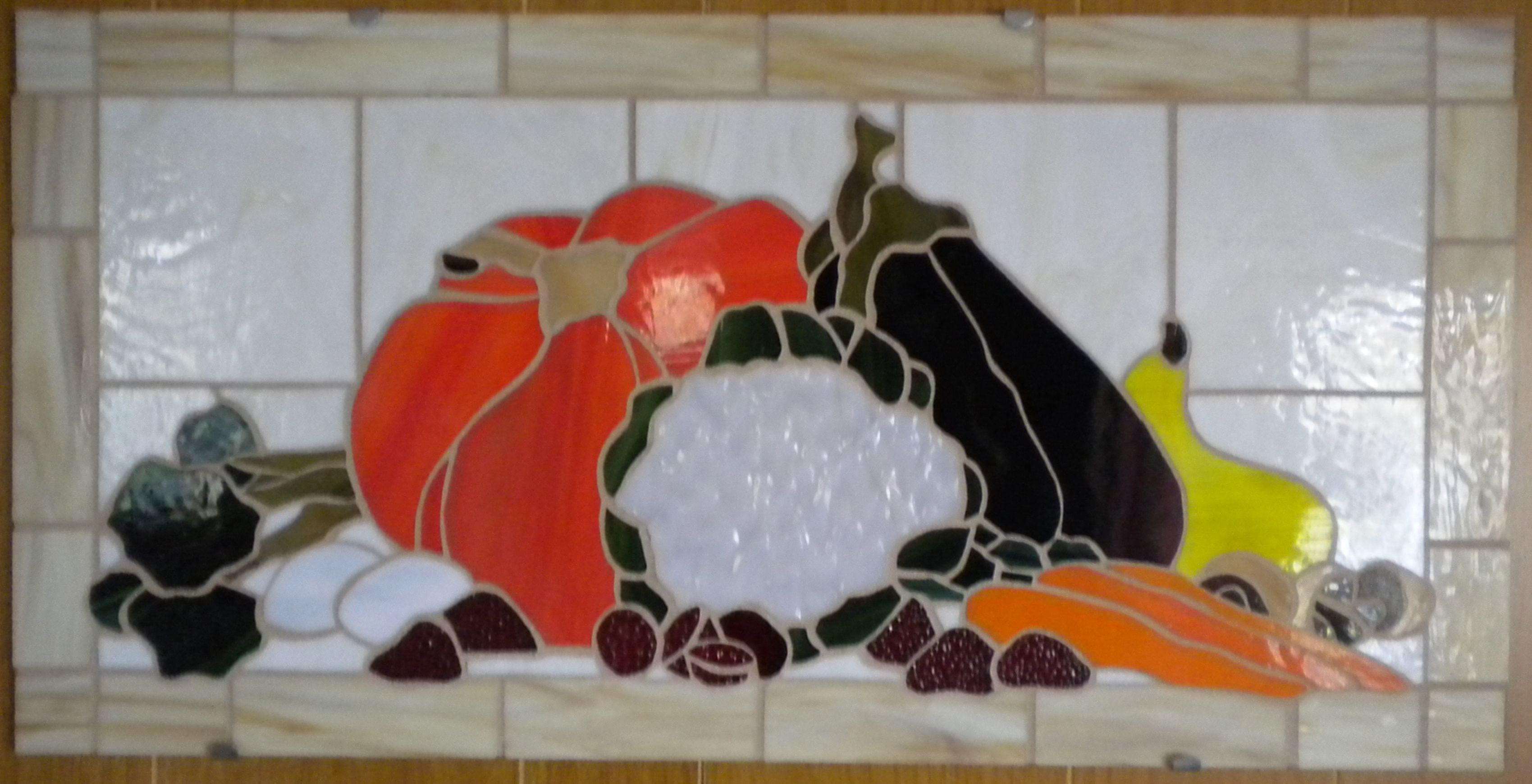 Vegtables mosaic stained glass