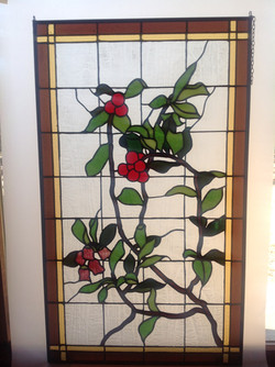 Stained glass Vine & Berries