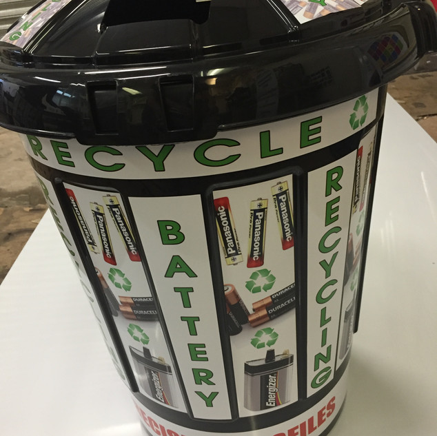 Vinyl wrap for recycle bin design