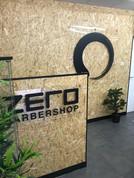 Internal perspex vinyl graphics for Zero Barbershop