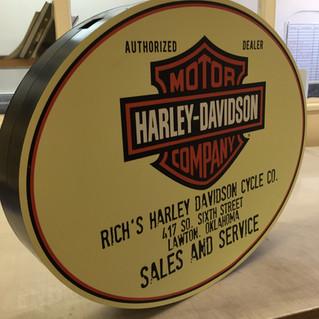 Custom Harley Davidson petrol station sign