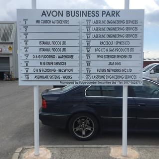 Avon Business Park signage