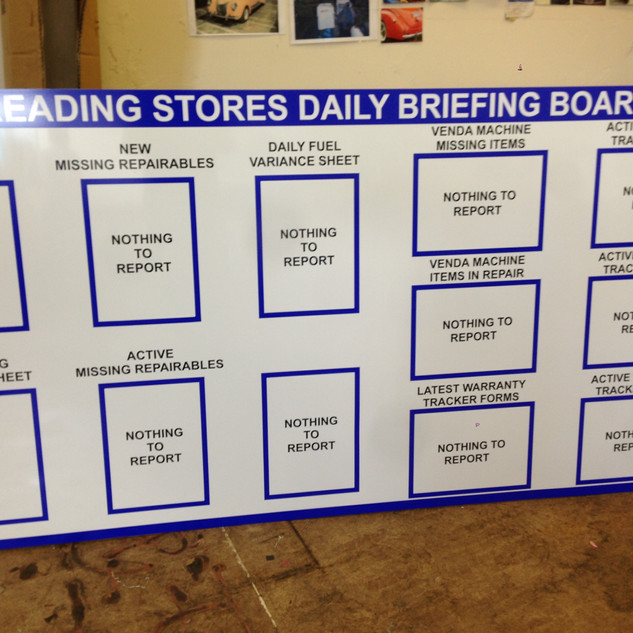 Briefing board for business