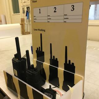 Walkie-talkie stand, custom design