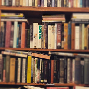 Lost in a sea of books #vintage #books.j