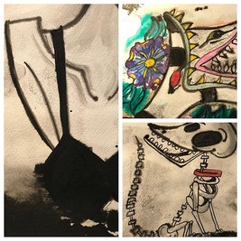 teasers of my pieces in the Tim Burton s