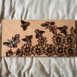 Using the left over pieces for a woodcut