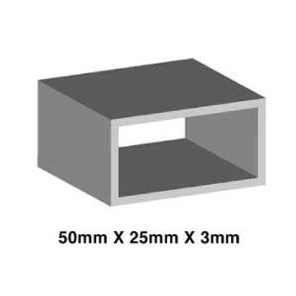 MILD STEEL 50mm X 25mm X 3mm (RHS)