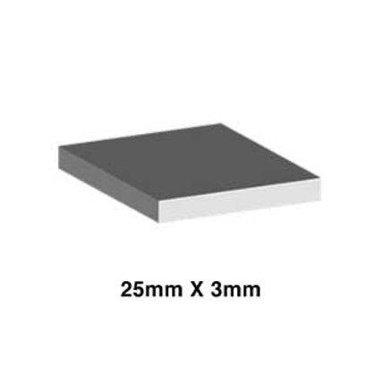 ALUMINIUM 25mm x 3mm (FLAT BAR)