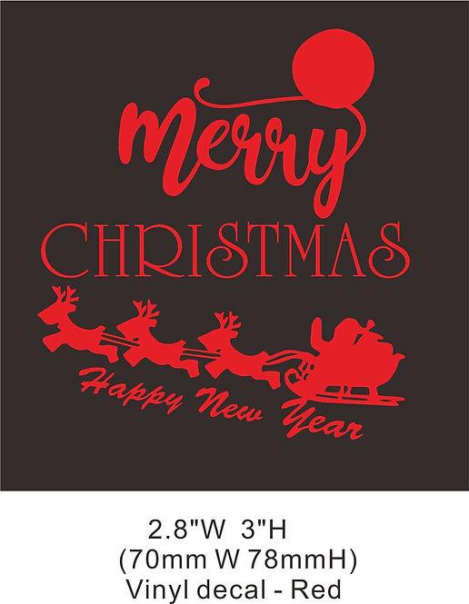 Christmas vinyl 5-2 heat transfer
