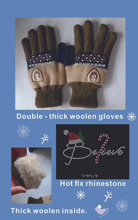 Winter woolen gloves