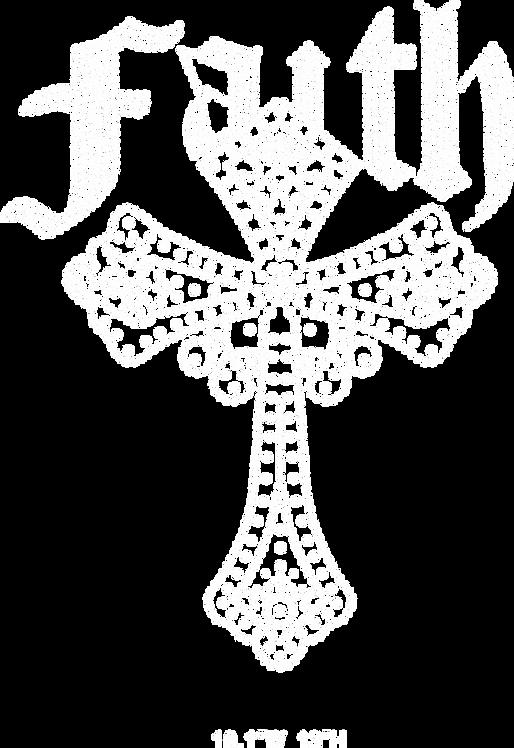 Faith cross hot fix rhinestone/iron on crystal