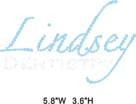 Lindsey Dentistry hot fix rhinestone/iron on crystal