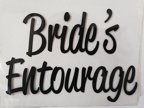 Bride's Entourage vinyl heat transfer