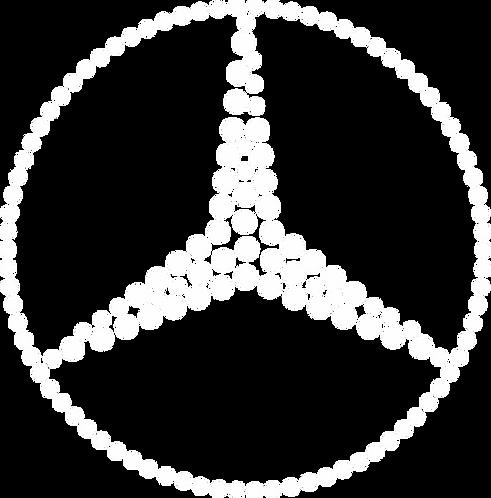 Mercedes Benz logo hot fix rhinestone/iron on crystal
