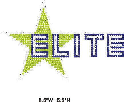 Elite All Stars hot fix rhinestone/iron on crystal