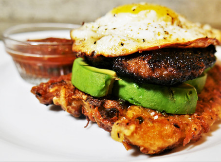 New Breakfast Recipe - Spicy Hashbrowns Stacker