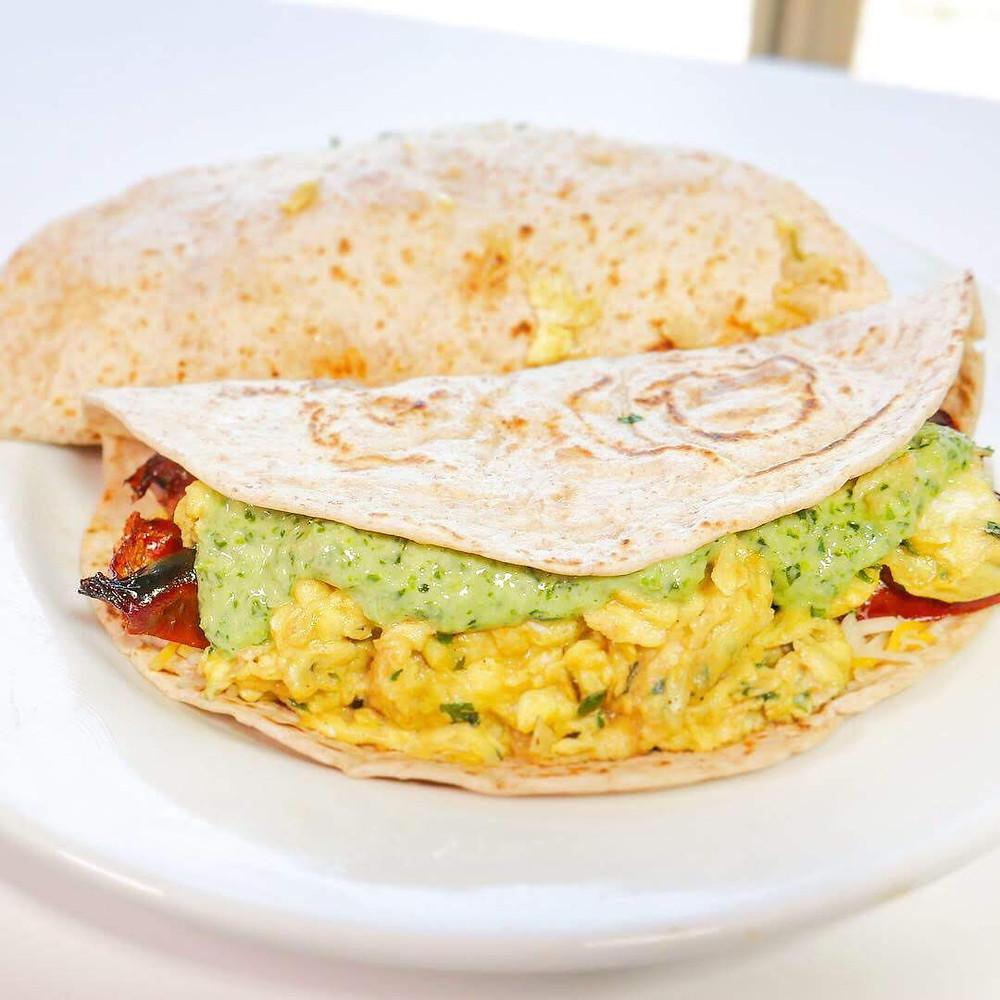 Breakfast tacos with Peruvian Aji Sauce - Keto recipe