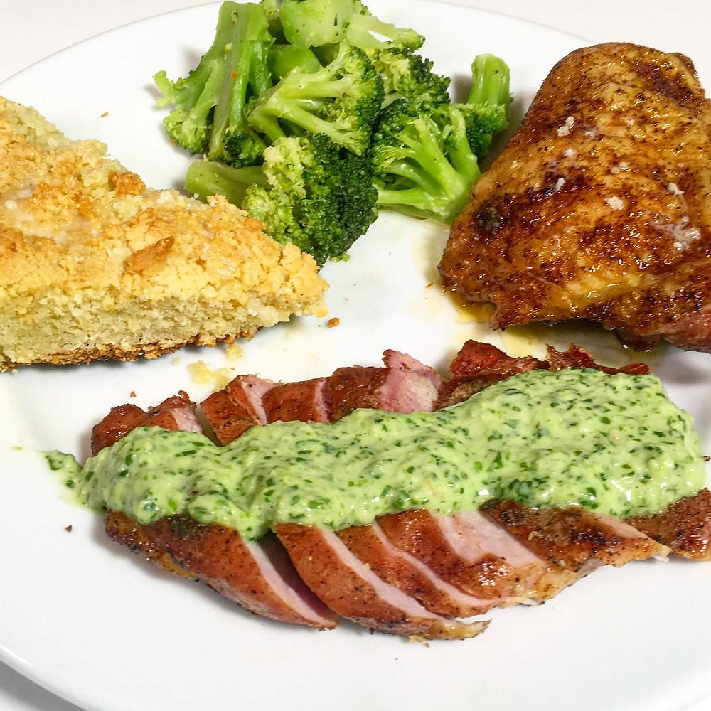 Pork with Peruvian Aji Sauce - Keto friendly