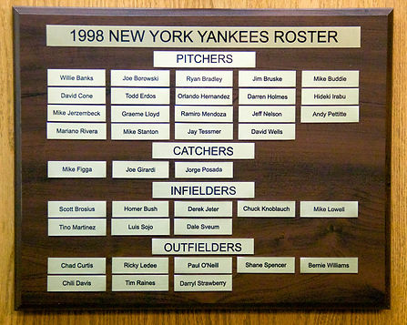 1998 NEW YORK YANKEES ROSTER | 1977 NEW YORK YANKEES WORLD SERIES | 1978 Autographed Yankee Baseball
