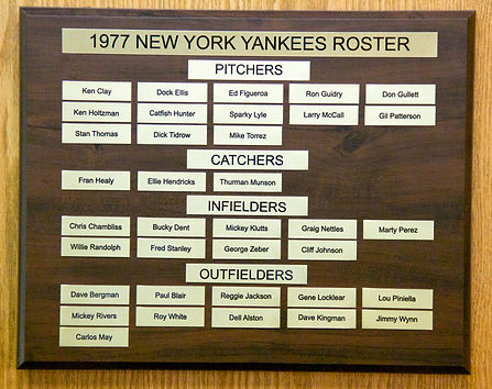 1977 NEW YORK YANKEES ROSTER | 1977 NEW YORK YANKEES WORLD SERIES | 1977 Autographed Yankee Baseball