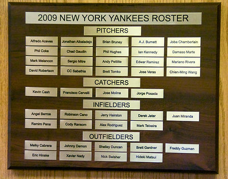 2000 NEW YORK YANKEES ROSTER | 1977 NEW YORK YANKEES WORLD SERIES | 1978 Autographed Yankee Baseball