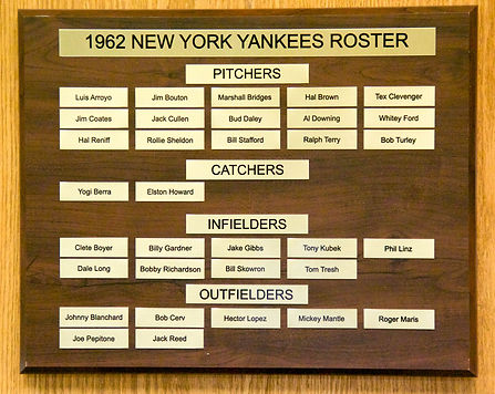 1962 NEW YORK YANKEES ROSTER | 1962 NEW YORK YANKEES WORLD SERIES | 1962 Autographed Yankee Baseball